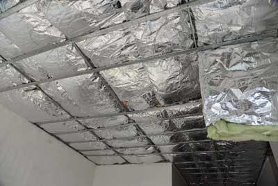 Aislamiento de techo con Aluminio