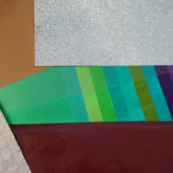 Lacquered and embossed aluminium foils and laminations.